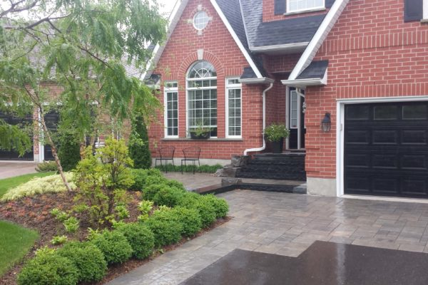 durham foxy landscaping driveway front entrance driveway