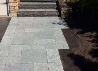durham foxy landscaping front entrance grey stairs